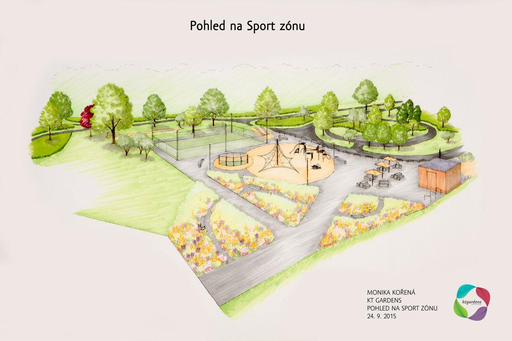 návrh zahrady v Ostravě, sportovní park, Avion Shopping Park Ostrava, KTgardens