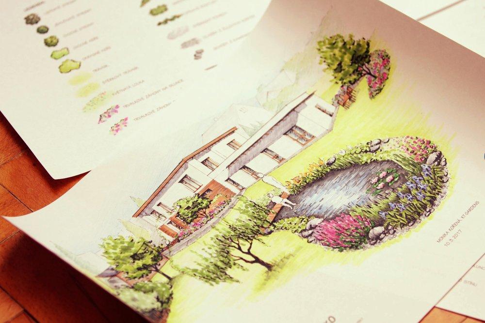 přírodní zahrada v Lubině, ktgardens, pohled na jezírko