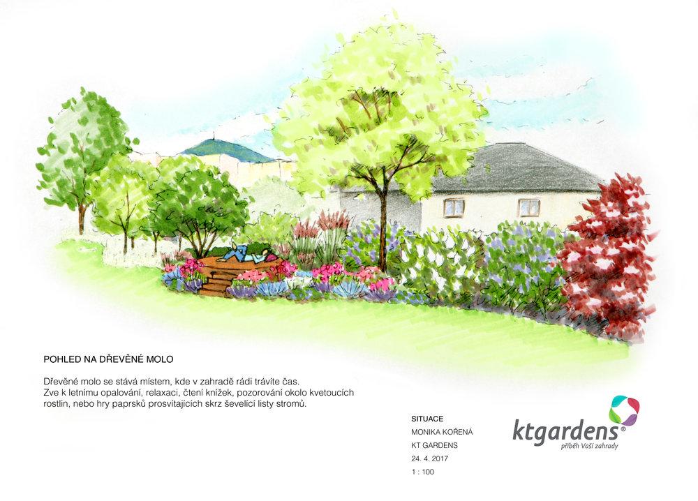 Návrh zahrady v Kopřivnici, rodinná zahrada, moderní zahrada, KTgardens