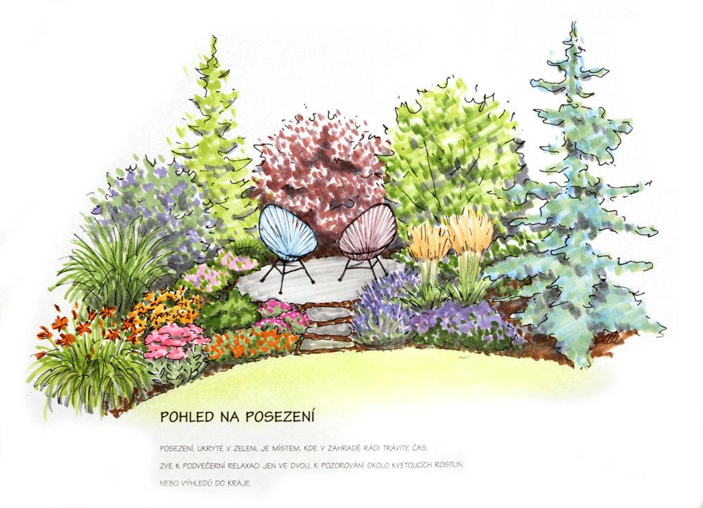 Návrh zahrady Polanka nad Labem, venkovská zahrada, moderní zahrada, KTgardens