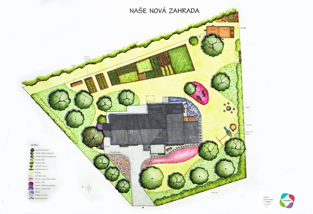 Návrh zahrady Horní Suchá, venkovská zahrada, přírodní zahrada, KTgardens