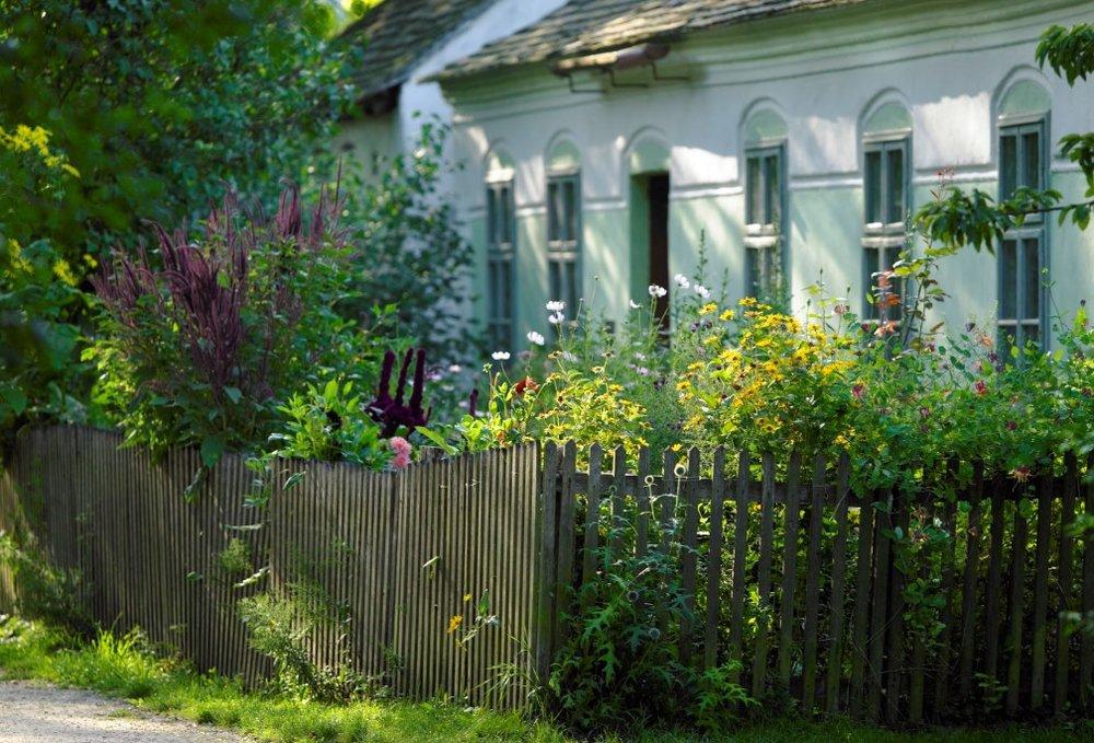 předzahrádka, muzeum vesnice, Niedersulz, Rakousko