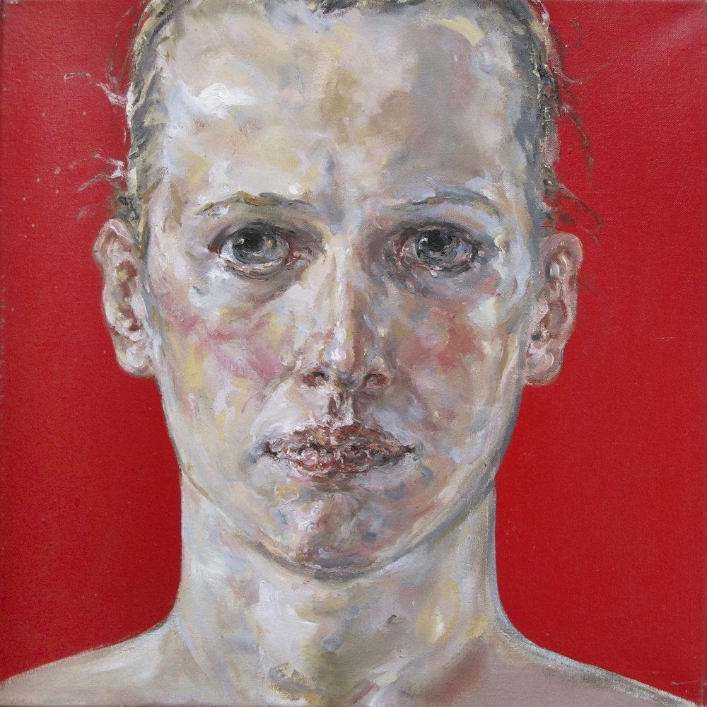"Günther Roeder, ""Simone"", 50 x 50 cm, Öl/Leinwand, 2005   > shop"