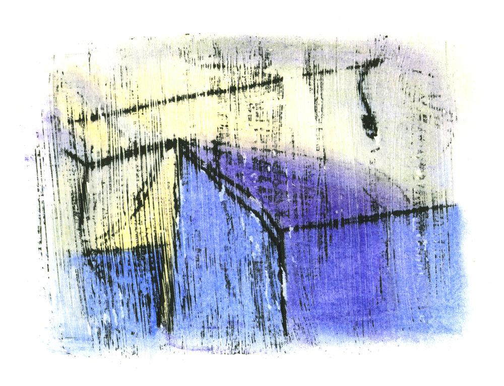 Margret Storck, o. T., Gel/Pastel, 10x13 cm, 1989