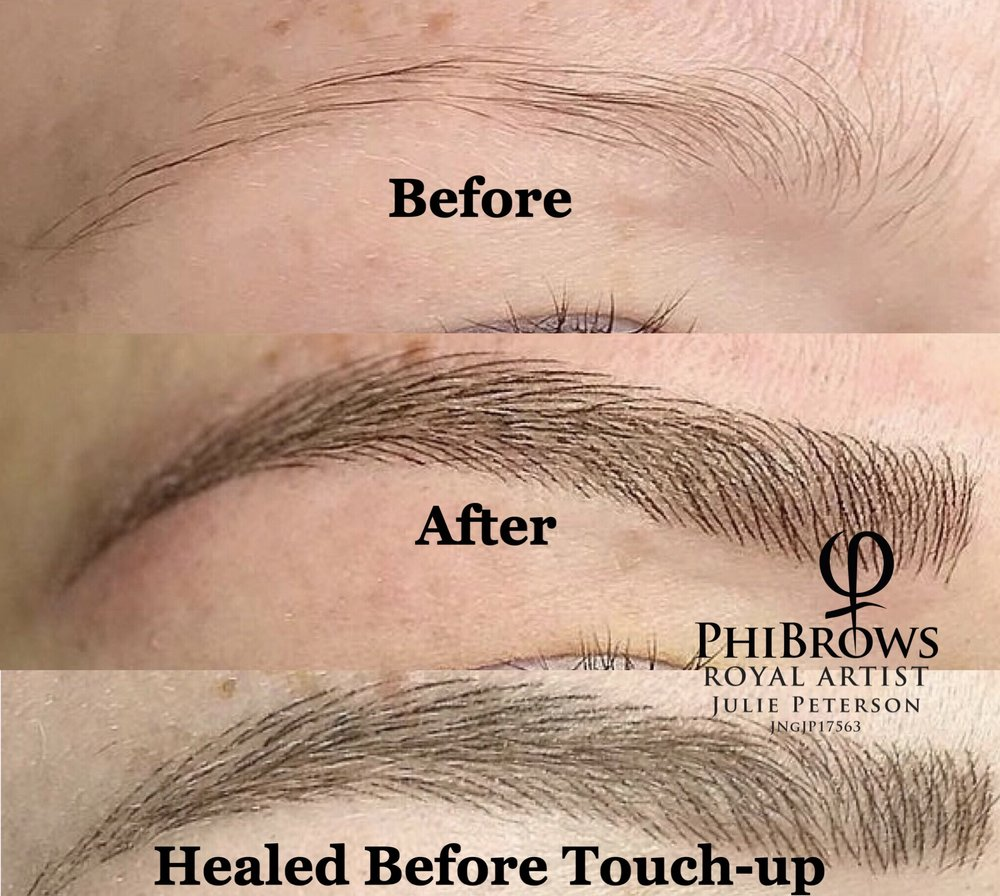 Eyebrows Created By Hand One Hair Stroke At A Time
