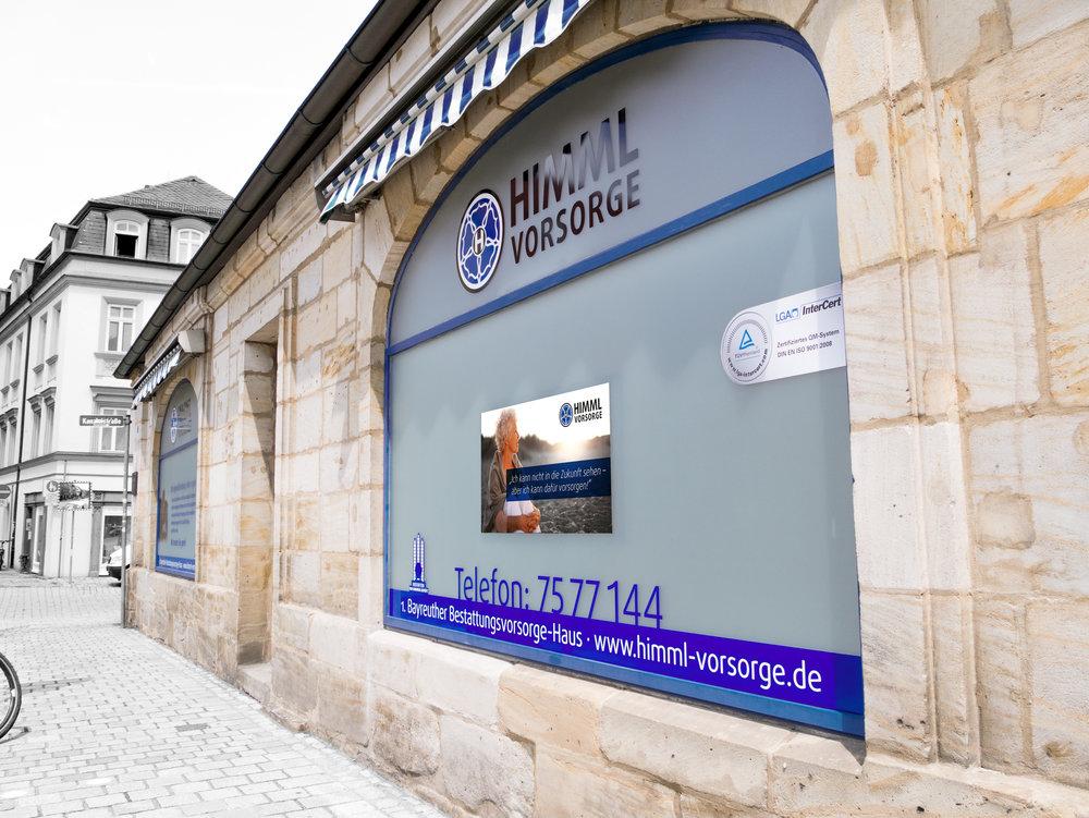 """Das """"Erste Bayreuther Bestattungsvorsorge-Haus"""" in der Friedrichstraße (ehemals Viol Reisebüro)"""