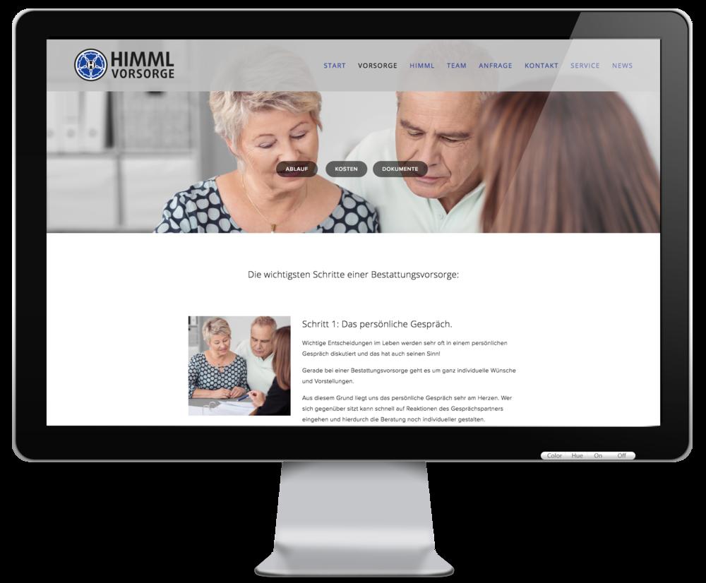 Besuchen Sie uns auf unserer Vorsorge-Homepage: www.himml-vorsorge.de