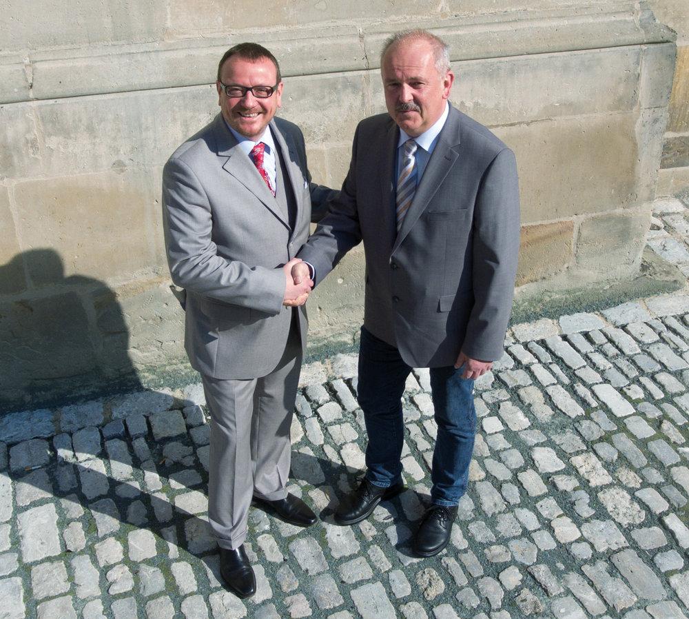 Alexander F. Christ, Inhaber HIMML BESTATTUNGEN e. K. und Werner Dittmar, Inhaber Bestattungsinstitut Dittmar