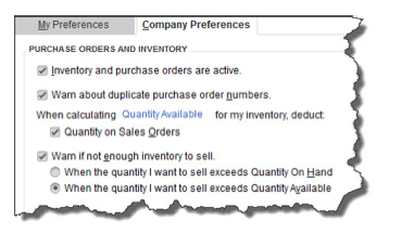 QuickBooks needs to know what your intentions are when it comes to inventory-tracking.