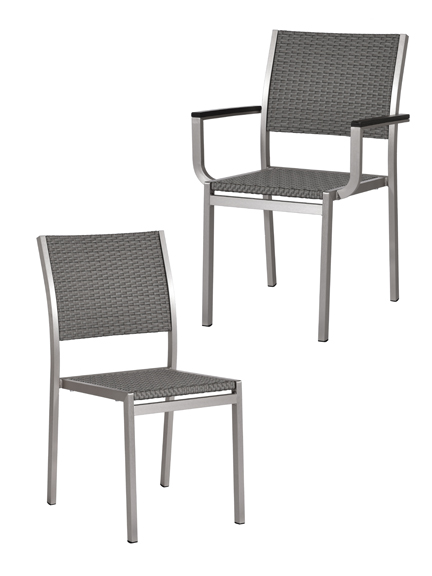 silver chrome woven barchair