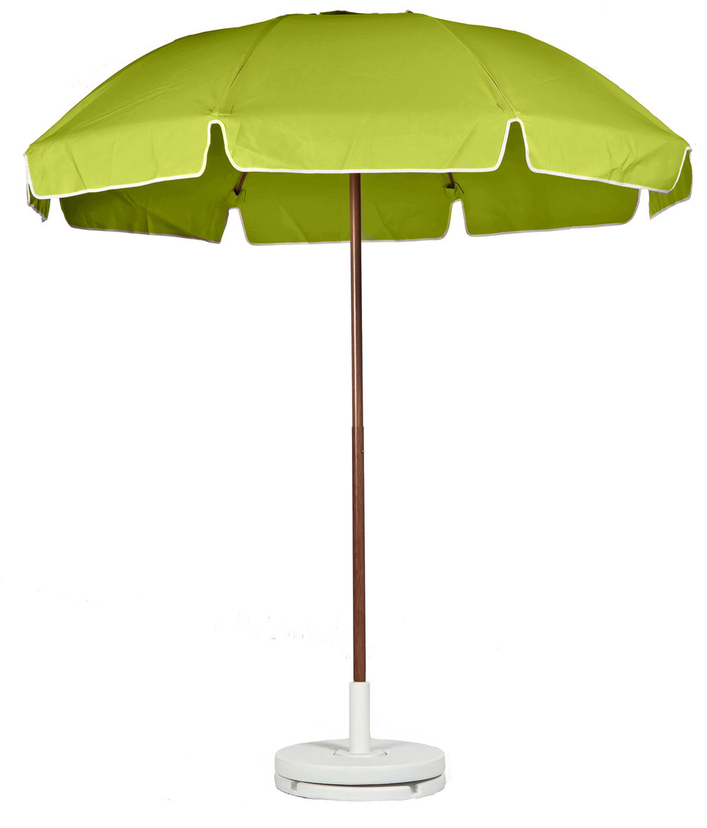 Patio Umbrellas Green Awning And Wood Pole