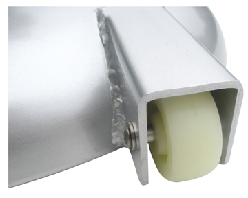 100# Aluminum Clad Concrete Roller Detail