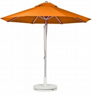 American trading co orange umbrella with white plastic stand mozeypictures Choice Image