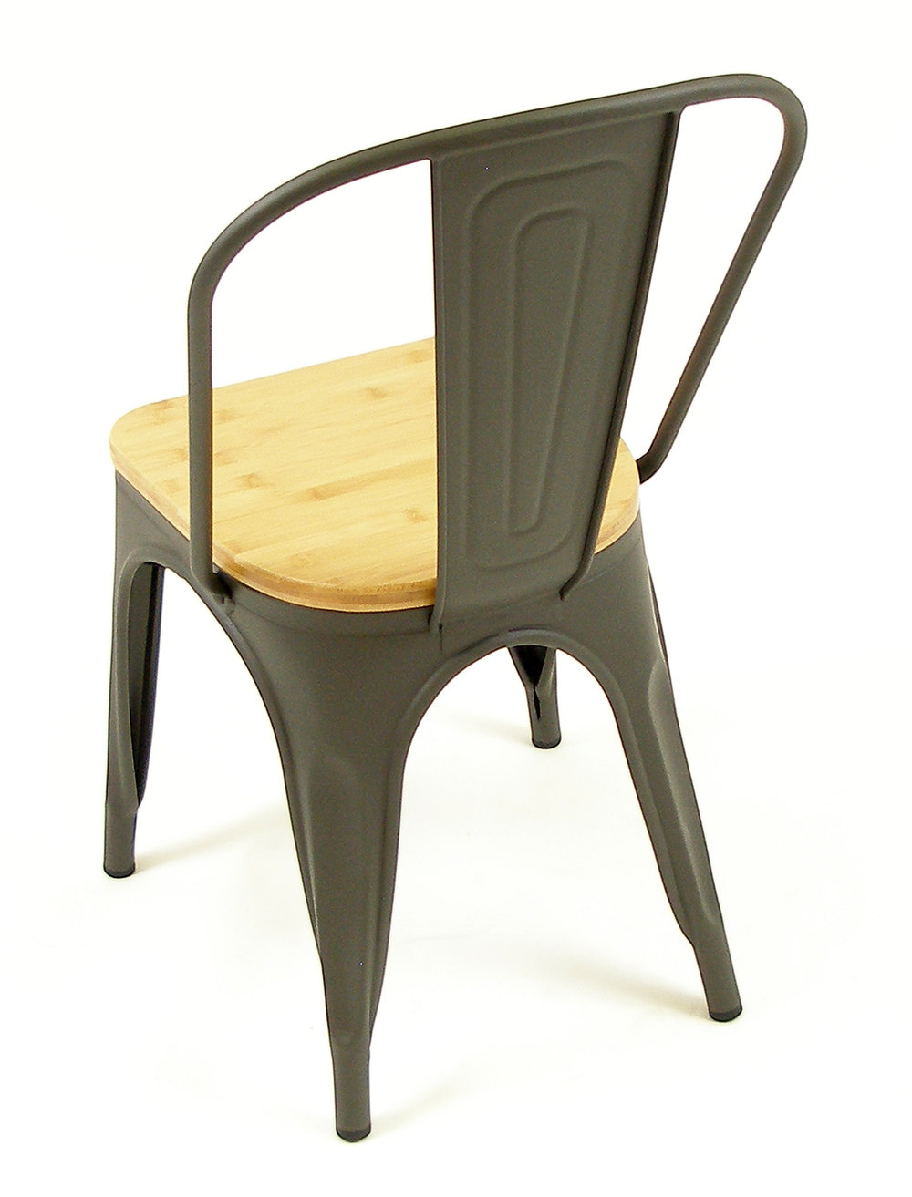 Manhattan SC Gun Metal w/ Natural Wood Seat