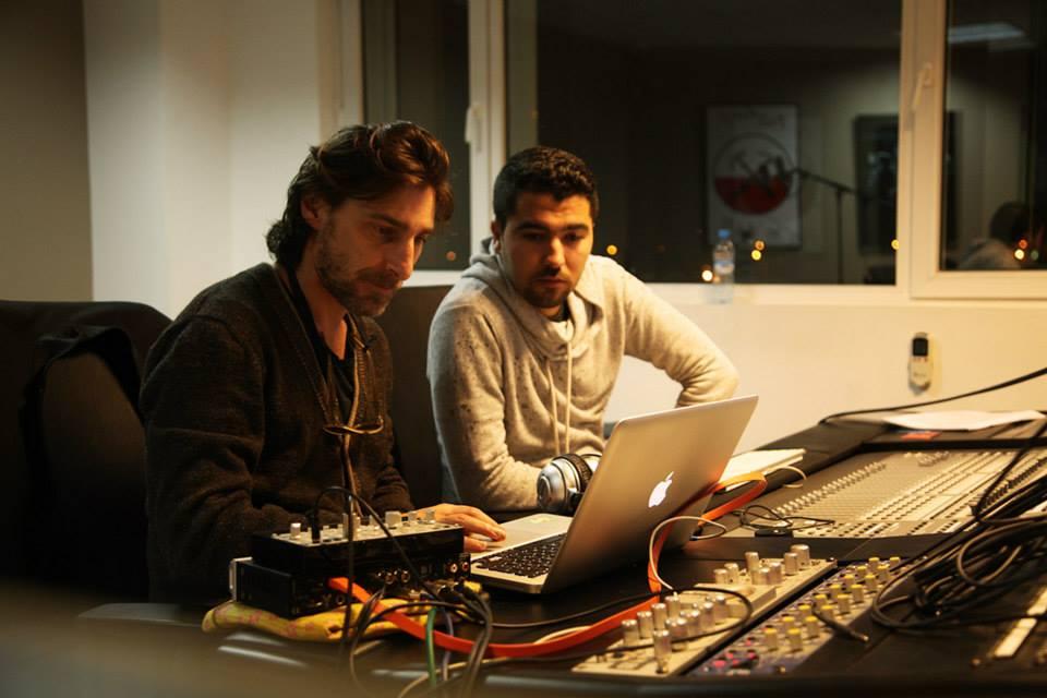 Adil et Pier Bucci - Cosmo records studio session à Coda Casablanca /Fevrier 2014