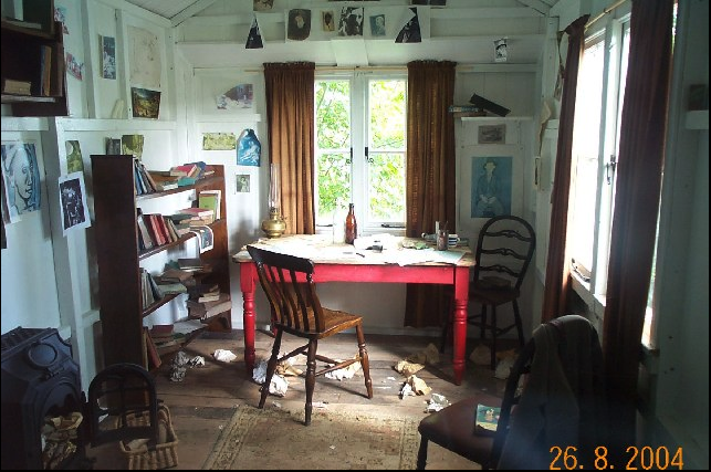 Dylan Thomas's writing shed in Laugharne, west Wales.