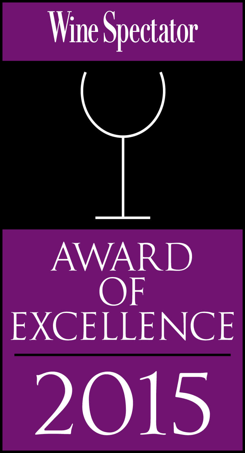 Wine Spectator Award of Excellence 2015 Banner