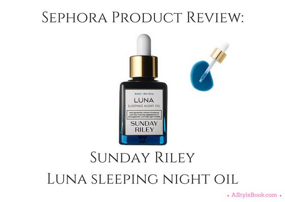 Sunday Riley Oil | A Style Book