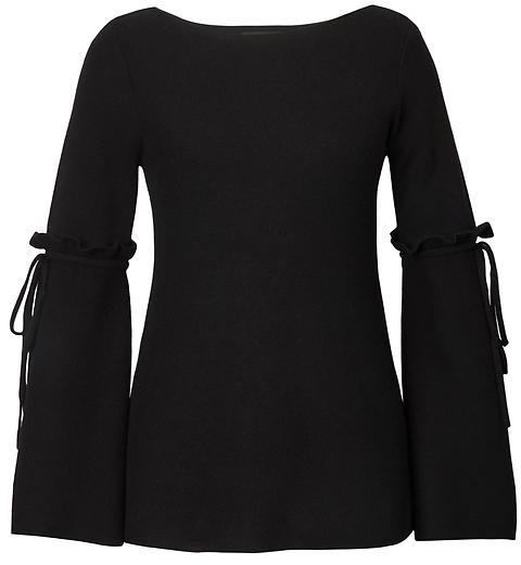 Bow Bell-Sleeve Pullover