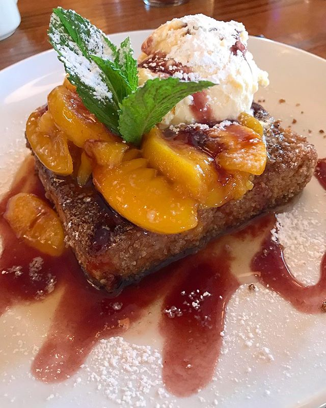 Peach Melba found (appropriately) at Peaches Brooklyn #brunch #dessert #peaches #brooklyn #food