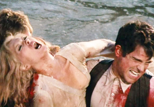"Faye Dunaway and Warren Beatty in ""Bonnie and Clyde."""