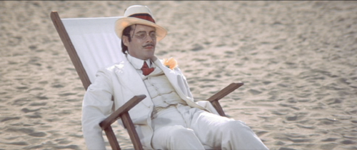 "Dirk Bogarde in Luchino Visconti's ""Death in Venice."""