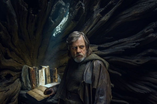 Luke Skywalker (Mark Hamill) safeguards the Jedi Canon.