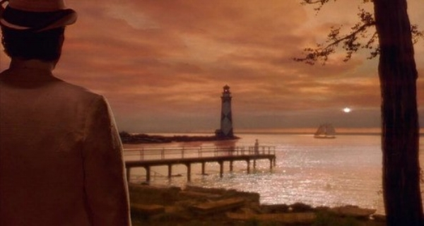"Newland Archer looking on, Ellen Olenska in the distance. This image persists with Newland for decades, the lighthouse a transcendent Point-of-Epiphany denoting a character's lost estuary to the cosmos, similar to how Martin Scorsese uses the lighthouse in ""Shutter Island"" and Beacon Hill in ""The Departed."""