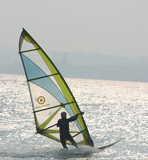 Windsurfing down in Cornwall