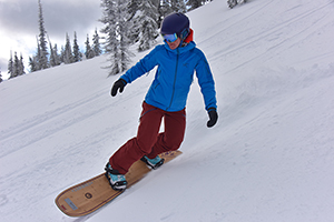 Backcountry snowboarding in Fernie, Canada