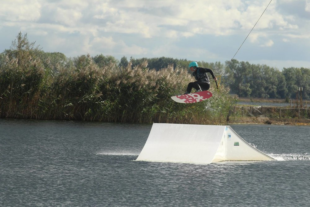 Wakeboarding at Hannam's Wake Hub, Cambridge