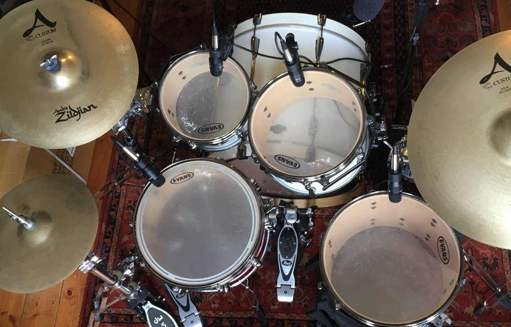Acoustic Recordings - £39Recorded using a 7-piece microphone set on a Tama Hyperdrive kit with Zildjian and Sabian cymbals. -