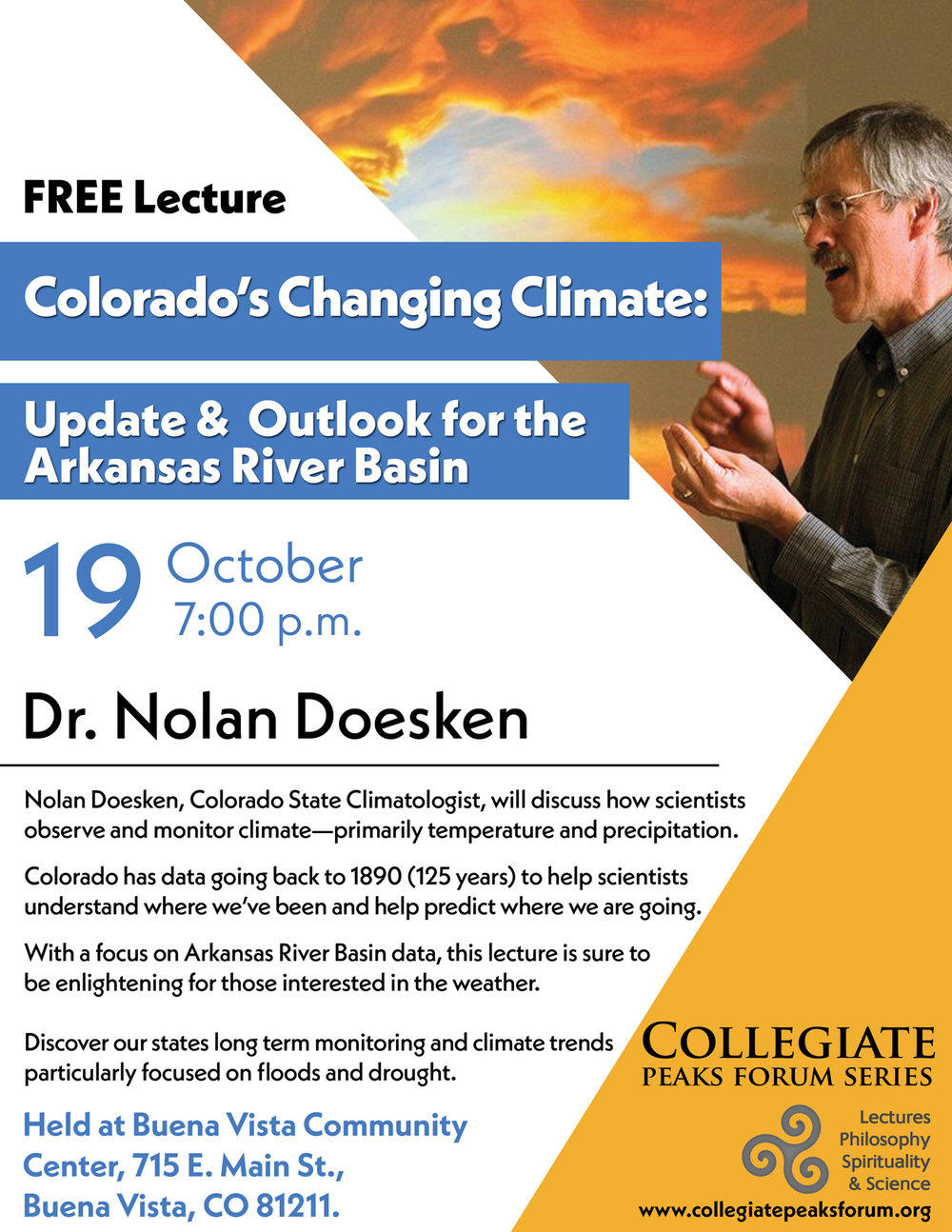 October 19, 2017 Dr. Nolan Doesken