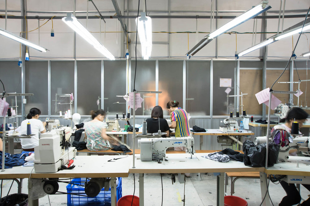 The SA8000 Certified facility where Girlfriend Collective garments are produced.