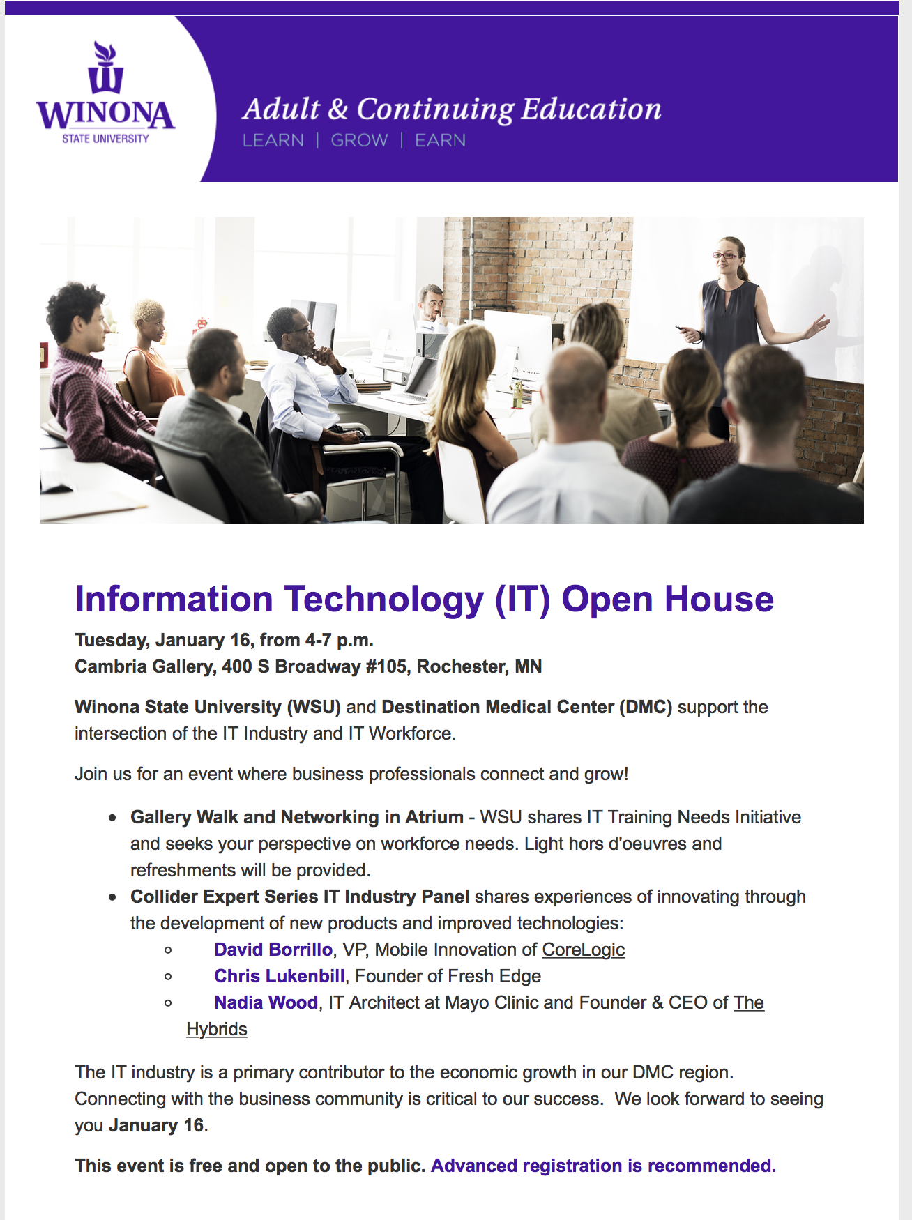 Information Technology (IT) Open House — Collider Coworking