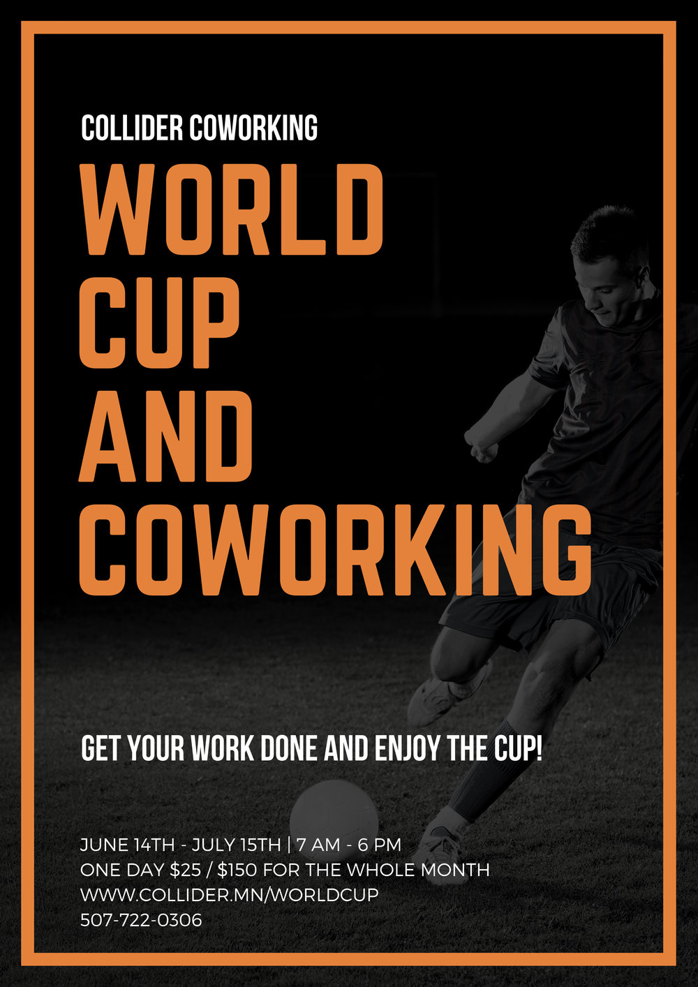 Black and Orange Soccer Victory Party Poster.jpg
