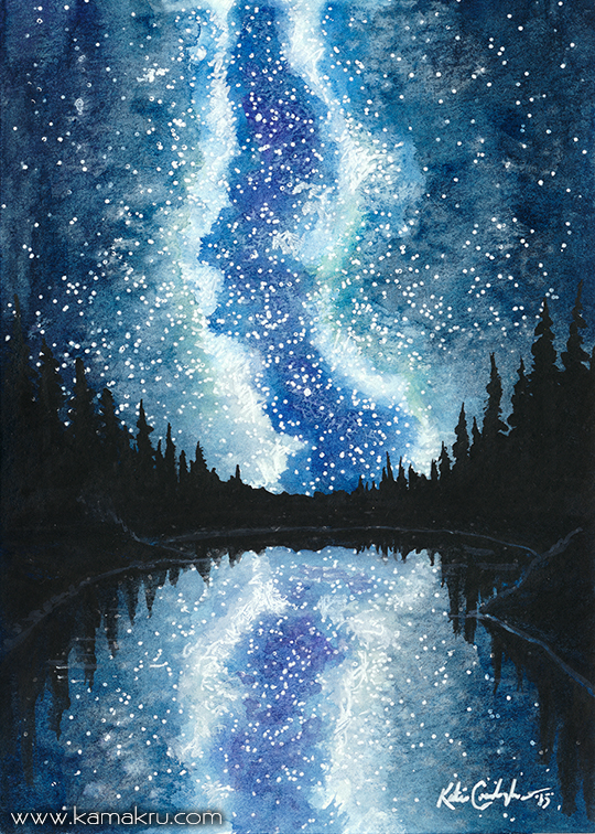 Mini Watercolor - Night Sky 1