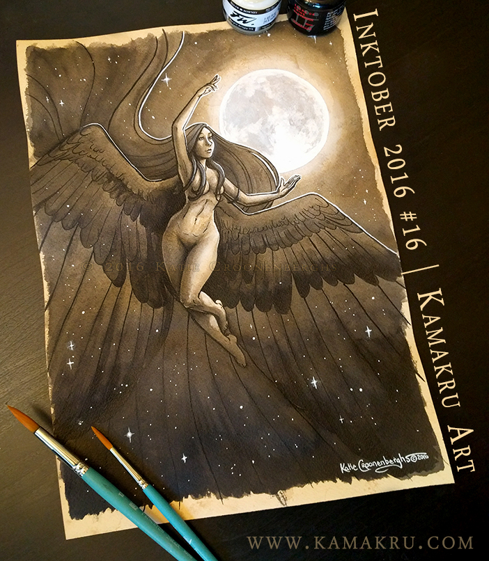 Ink & Coffee #16 - Nyx, Goddess of the Night