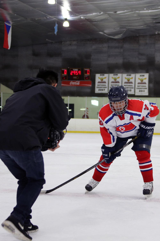 Devan Francis captures a hero shot on ice in Auckland, New Zealand.