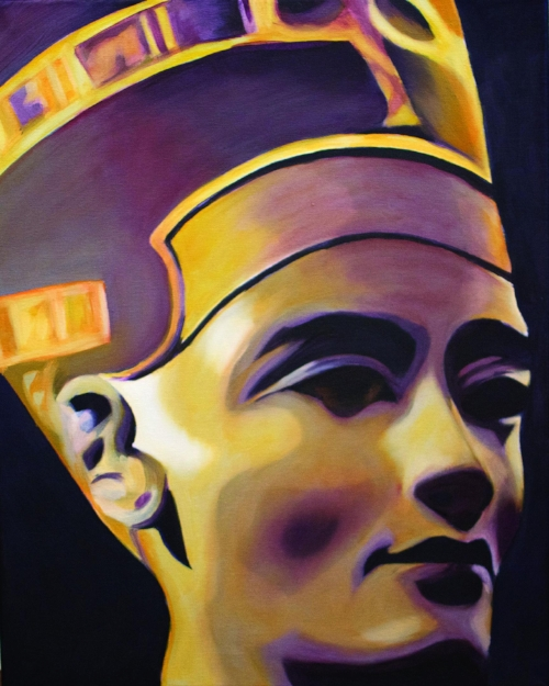 Queen Nefertiti, oil painting