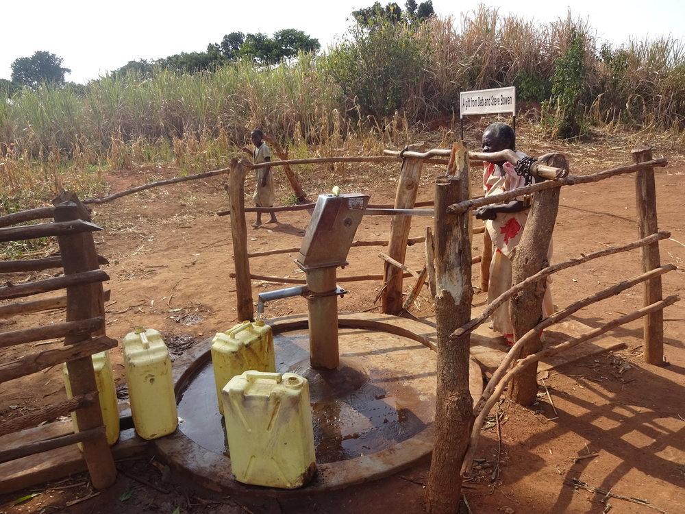 The new well in Bukoma Village