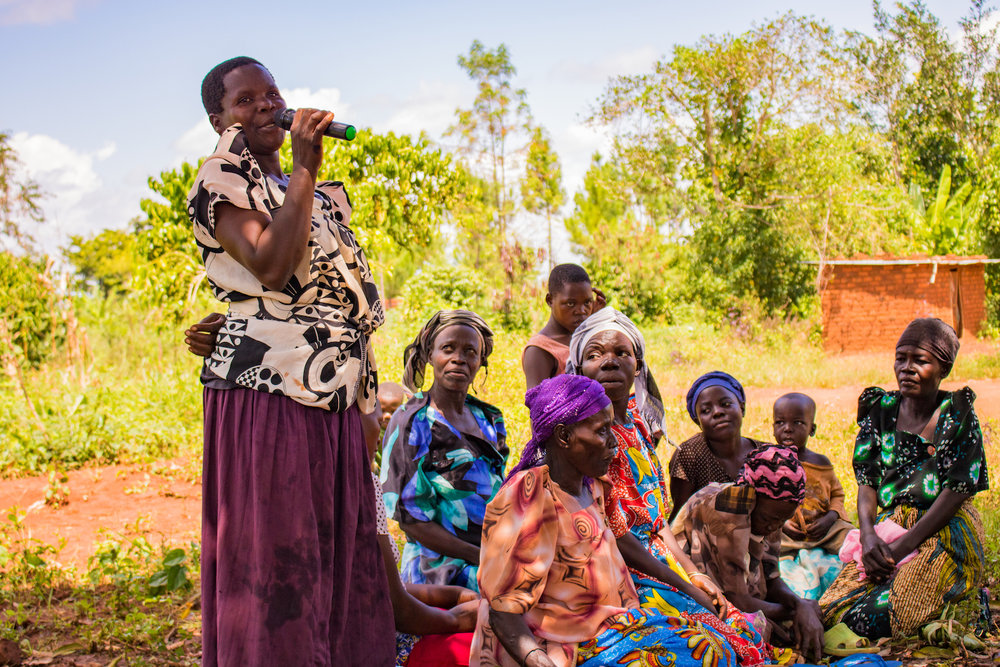 When Ida comes to town,  she empowers the women she teaches to speak. Ida has been empowering women since she started working with Kibo in 2002. Women's empowerment takes many forms in Ida's lessons, including teaching them that they are a blessing, not a curse; worthy, not unworthy; capable, not incompetent. However, sometimes women's empowerment is as simple as giving a woman a microphone and encouraging her to stand up and introduce herself in front of peers and strangers.