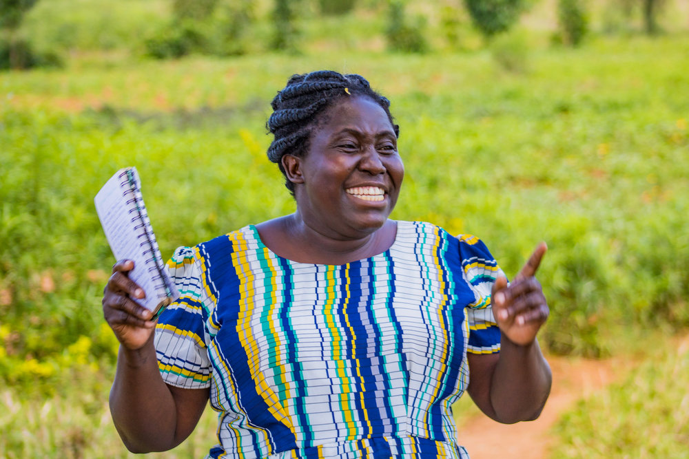 Ida has a passion for empowerment. She gives villages the tools they need to be empowered emotionally, spiritually, physically, and economically. She gives detailed instructions on how to take care of chickens in the most effective way — and community members take diligent notes in turn. The results speak for themselves.