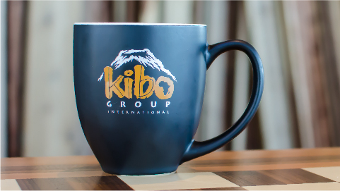 Subscribe to Kibo's monthly email newsletter and you could win a Kibo mug! -