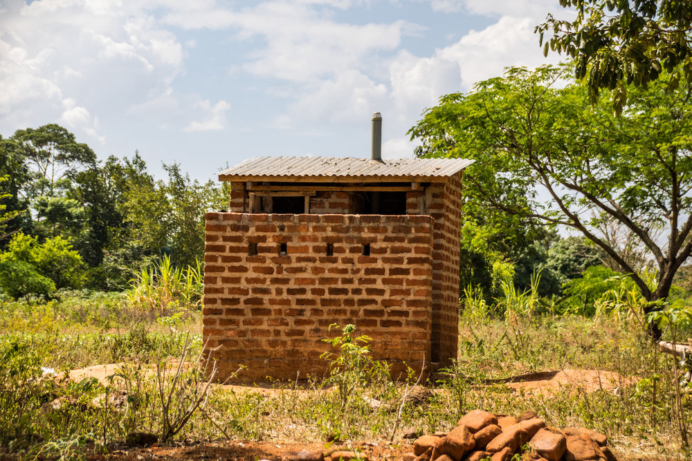 This is a top-notch latrine that a family constructed during Christmas break. It was a huge sacrifice of money and time, but it was well-worth the effort!