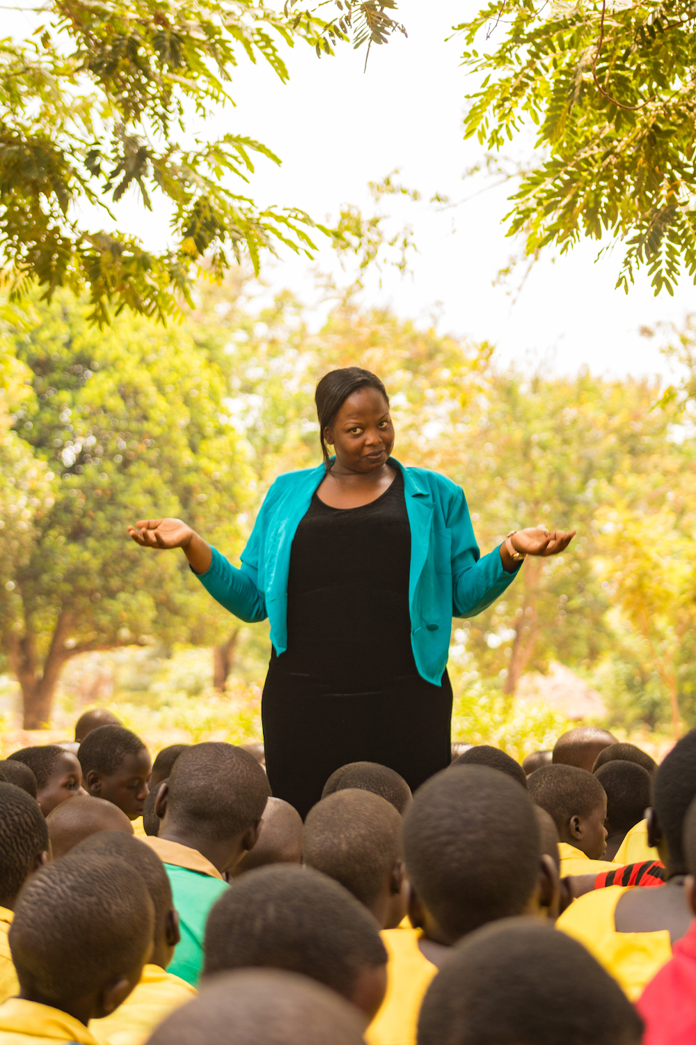 Life Skills Assistant Lorna Katagara took sign language classes is high school, and she is excited to practice her skills with the Bukhana students.