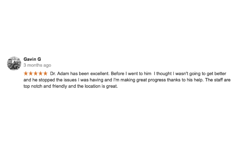 Copy of Dr. Adam Markew Testimonial