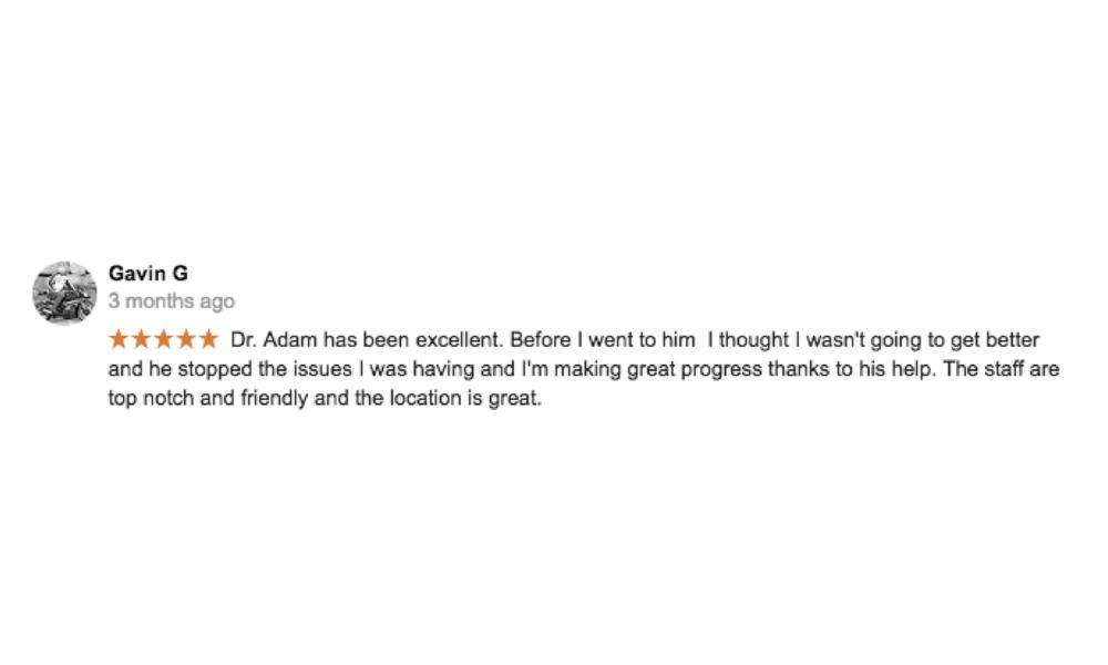 Dr. Adam Markew Testimonial