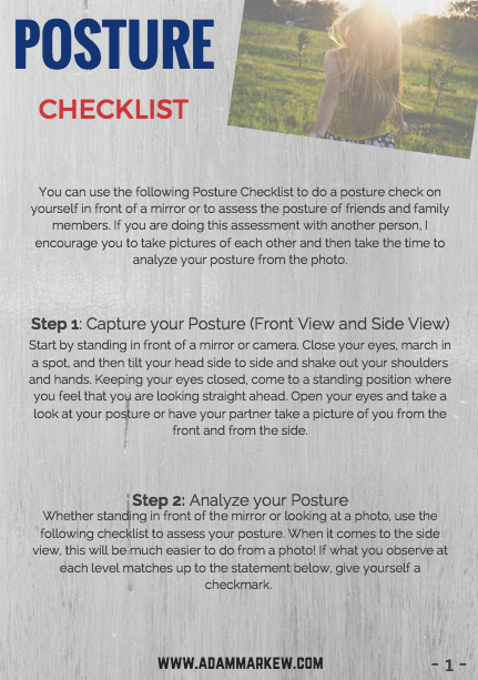 Check your child's posture with this easy checklist.