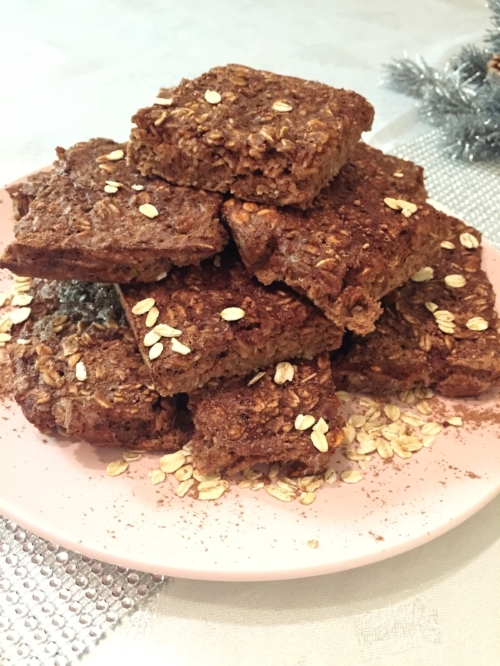 Chocolate Protein Oat Squares